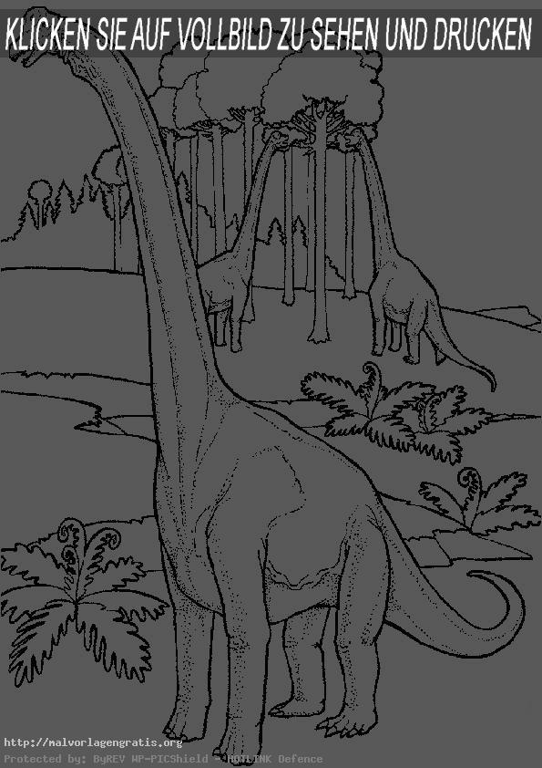 Malvorlagen Dinosaurier 6 | Malvorlagen Gratis
