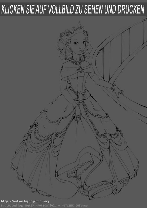 Malvorlagen Prinzessin-19
