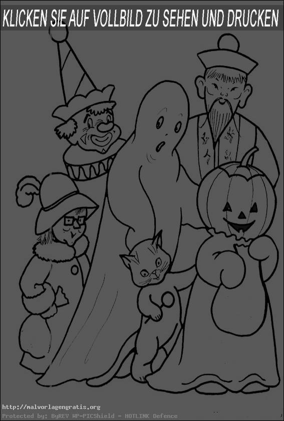 Malvorlagen Gratis  Halloween-14